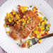Seared Salmon with Sweet Corn and Bacon Sauté Recipe
