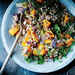 Farro Stuffing with Butternut Squash, Red Onion, and Almonds Recipe
