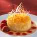 Baked Pear Caramel with Berry Sauce Recipe