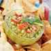 Avocado-Corn Dip with Homemade Tortilla Chips Recipe