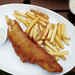Fried Beer-Battered Fish and Chips with Dilled Tartar Sauce Recipe