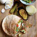 Israeli Roast Eggplant, Hummus and Pickle Sandwiches Recipe