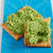Mint-and-Pea Hummus on Flatbread