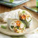 Basil Summer Rolls with Peanut Dipping Sauce