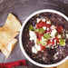 Chipotle Black Bean Dip with Corn Chips Recipe