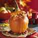 Stuffed Pumpkin with Cranberry-Raisin Bread Pudding Recipe