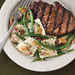 Grilled Fillets with Pecans and Green Bean Ravioli Recipe