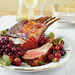 Honey-Curry Glazed Lamb with Roasted Grapes and Cranberries Recipe