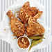"""Man Catching"" Fried Chicken with Honey-Pecan Glaze Recipe"