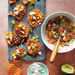 Sweet Potato Crostini with Goat Cheese and Grape Salsa Recipe