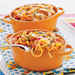 Baked Four-Cheese Spaghetti with Italian Sausage Recipe