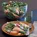 Poached Pear, Macadamia, and Spinach Salad with Goat Cheese Recipe