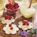 Coconut Cookies with Lemon Curd and Raspberries Recipe