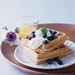 Blue Corn Waffles with Lavender Cream and Fresh Blueberries Recipe