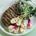 Grilled Spring Onions and Rib-Eye Recipe