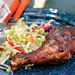 Grilled Chicken with Whiskey Barbecue Sauce and Spicy Slaw Recipe