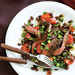 Ancho-Marinated Skirt Steak with Warm Black Bean Salad Recipe
