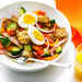 Bacon, Egg, and Toast Salad with OJ Dressing Recipe