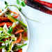 Rainbow Carrot, Pea Shoot, and Chicken Salad Recipe