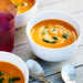 Velvety Carrot Soup with Carrot Top Pesto Recipe