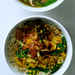Spiced Red Lentils with Caramelized Onions and Spinach Recipe