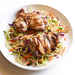 Grilled Thai Chicken Thighs with Spicy Broccoli Slaw Recipe
