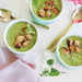 Minty Pea Soup with Parmesan Croutons