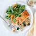Orange-Glazed Salmon with Olive Quinoa Recipe