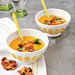 Peach Gazpacho with Salted Candied Almonds