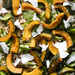 Roasted Kabocha Squash with Farro and Mustard Greens Recipe