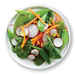 Spinach Salad with Sugar Snap Peas and Carrot