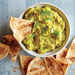 Sweet Pea and Avocado Dip with Baked Pita Chips Recipe
