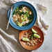 Tofu and Edamame Noodle Bowl with Caramelized Coconut Broth Recipe