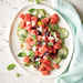 Watermelon Salad with Feta and Cucumber Pickles Recipe