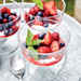 White Balsamic-Marinated Berries with Sweet Buttermilk Curd Recipe