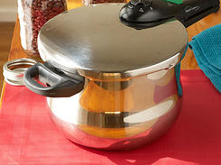 Pressure cookers, which drastically reduce traditional cooking times, are enjoying a newfound popularity among modern cooks.  This should come as no surprise to anyone who's ever needed to get dinner on the table after a full day on the job!From rich homemade meat stocks to elegant parmesan risotto, the pressure cooker knows a thing or two about coming through in a pinch.  So whether your pressure cooker is your mom's retro model or still waiting for you to order it off Amazon, don't be scared to work this nifty appliance into your weeknight cooking routine.