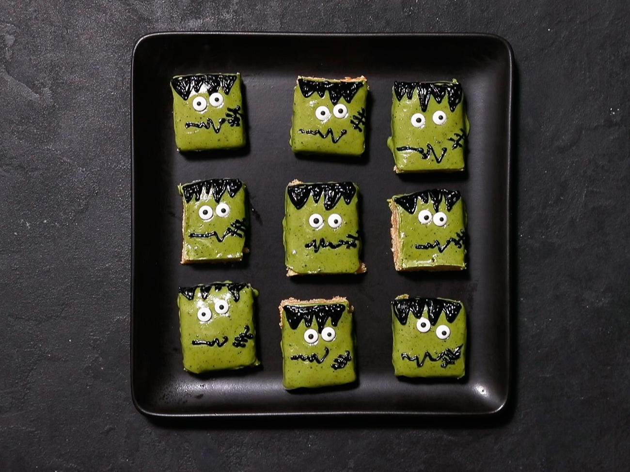 Frankenstein Cookie Bars