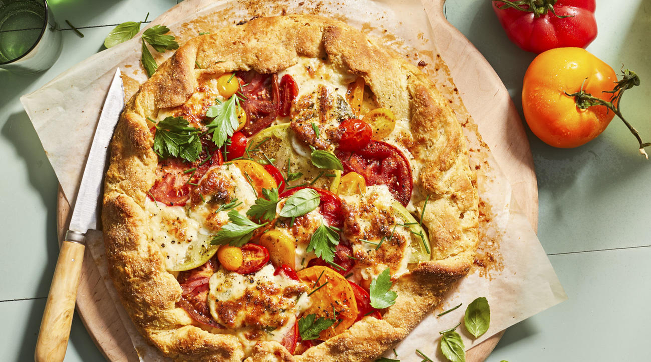 mr-Tomato Tart with Smoked Mozzarella Image