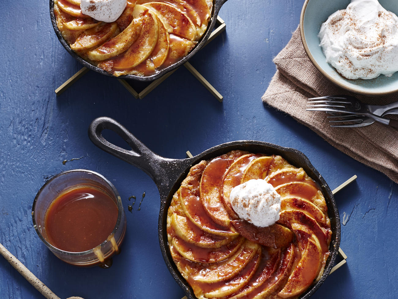 Caramel Apple French Toast Skillets