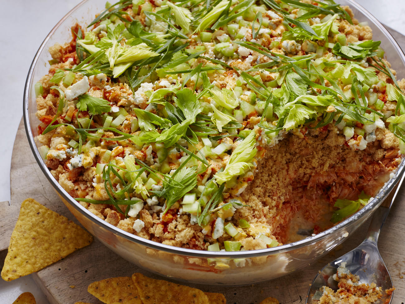 Layered Buffalo Chicken Dip