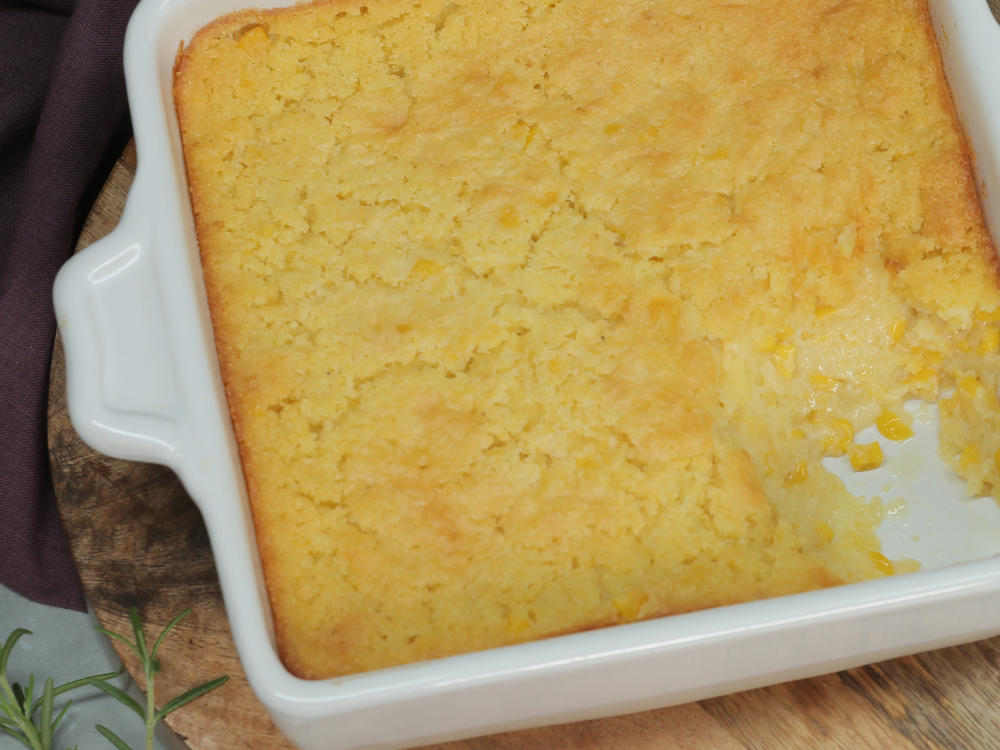 Colby-Jack, Poblano, and Corn Bread Dressing