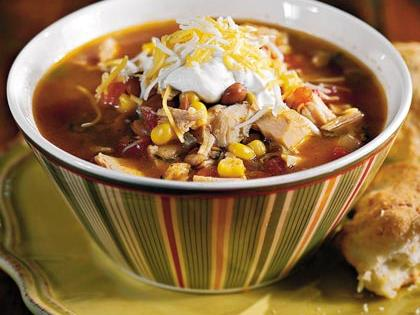 Give your taste buds a wake-up call by switching from sweet and savory holiday dishes to this zesty turkey soup. If you don't believe us, check out the 5-star reviews on the recipe page.Recipe:Fiesta Turkey Soup With Green Chile Biscuits