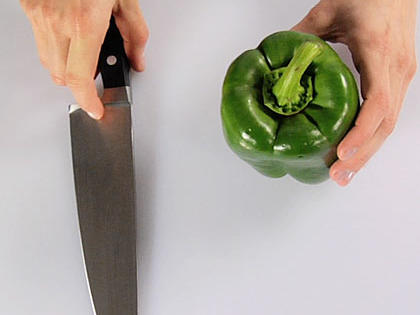 Slicing and Chopping Pepper