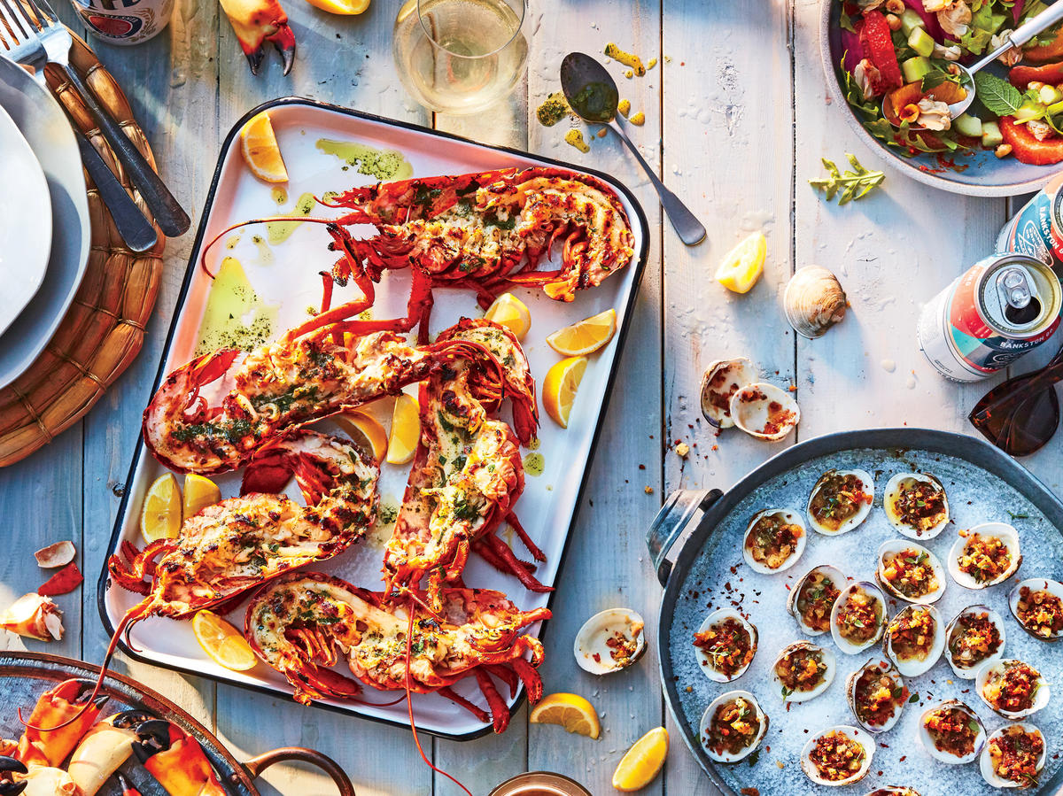 Clone of cl-Grilled Spiny Lobsters with Herbed Oil
