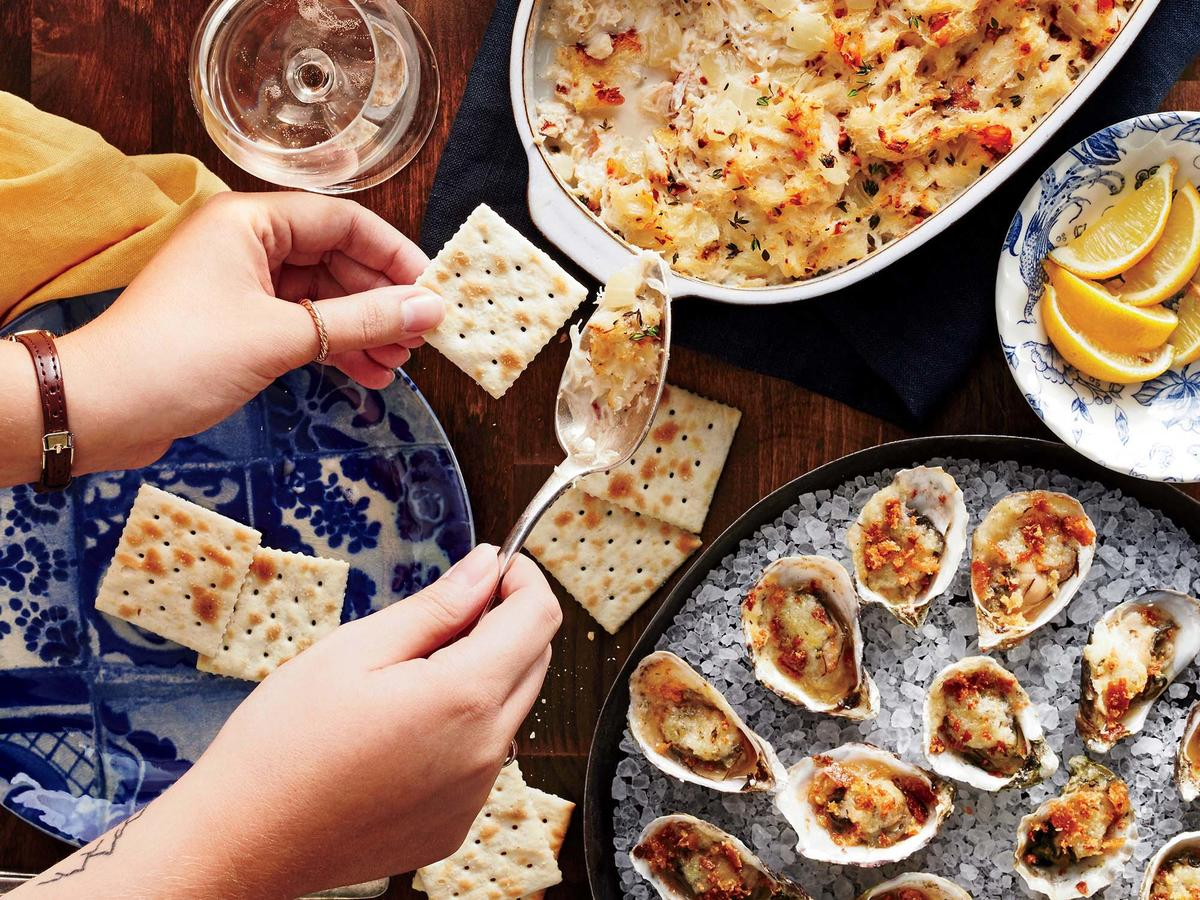Baked Oysters with Horseradish Butter