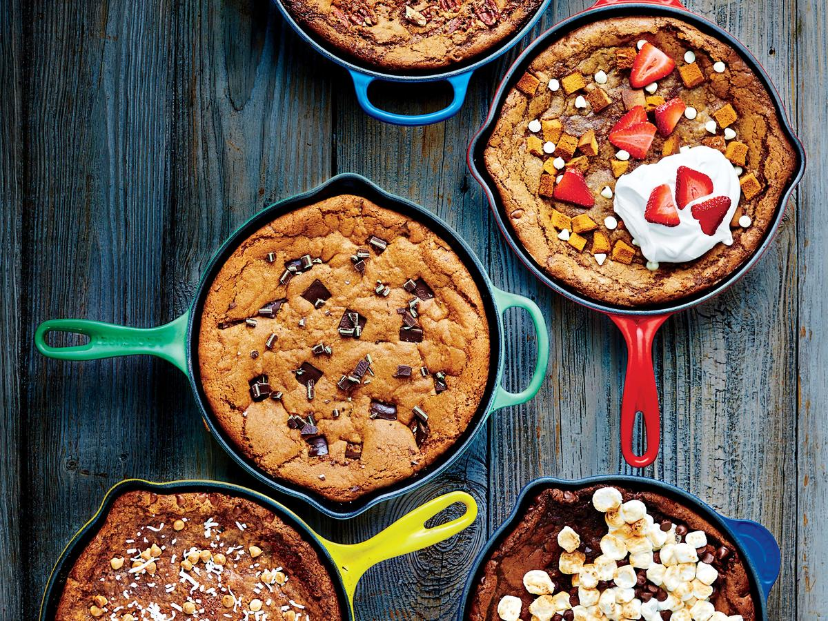 Grasshopper Deep-Dish Skillet Cookie