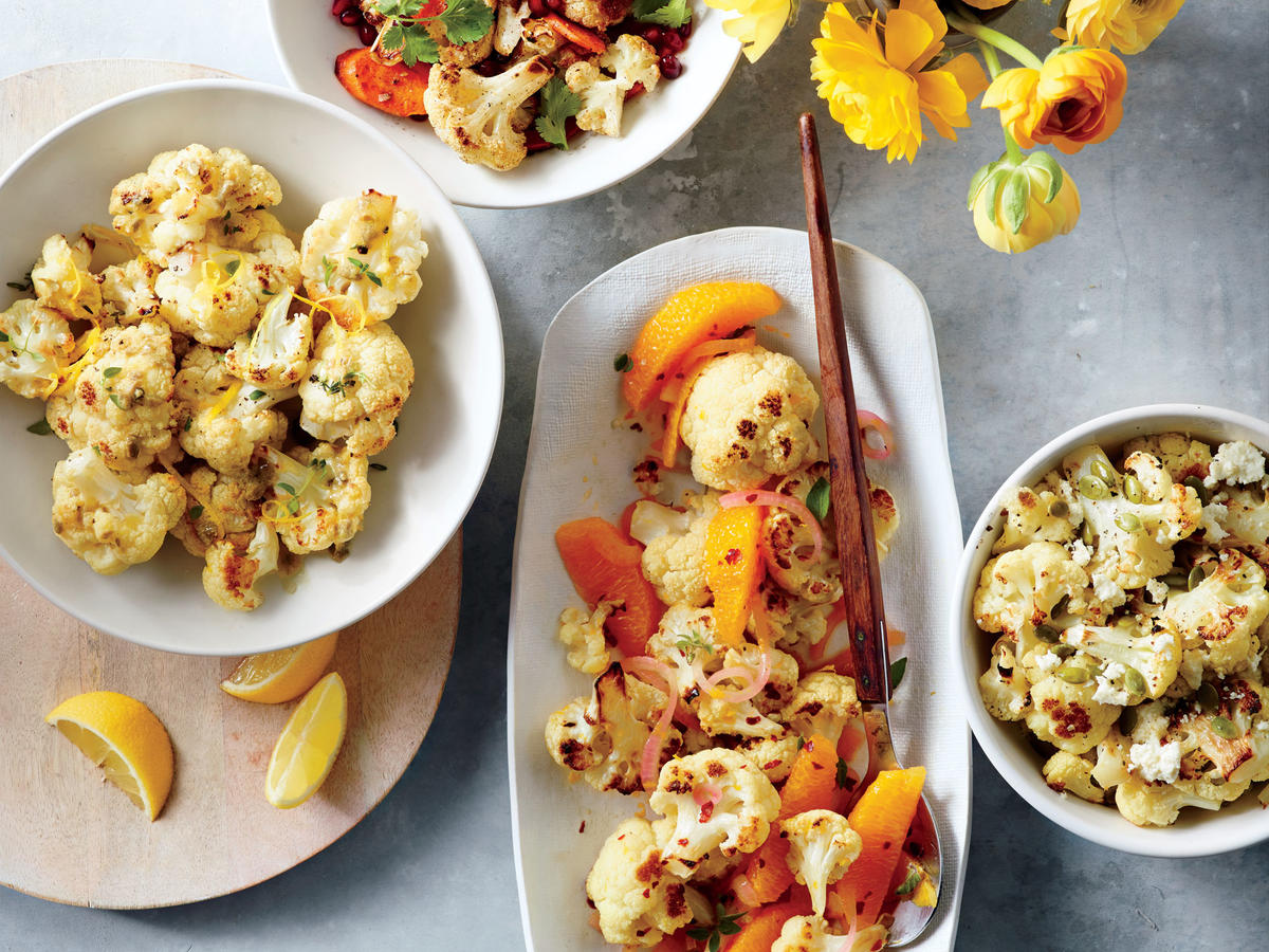 Roasted Cauliflower with Pumpkin Seeds and Queso Fresco image