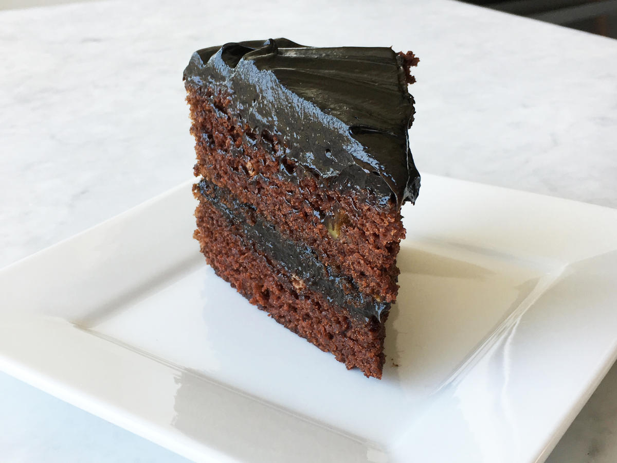 Dark Chocolate Avocado Cake with Chocolate Avocado Frosting