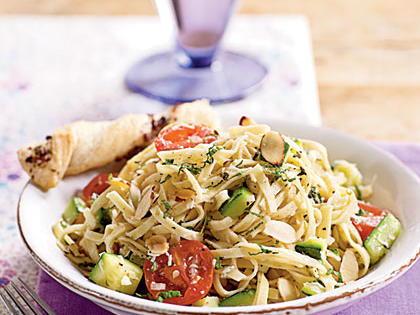 Pasta with Zucchini and Toasted Almonds Menu