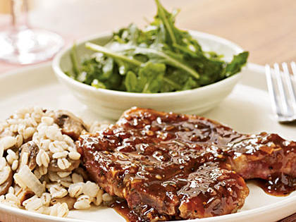 Pan-Seared Pork Chops with Red Currant Sauce Menu
